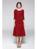 cheap Women's Dresses-Women's Classic & Timeless Sheath Dress - Solid Colored