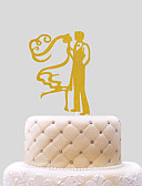 billige Junior brudepikekjoler-Kakepynt Bryllup Hjerter Papir Bryllup med 1 PVC Veske
