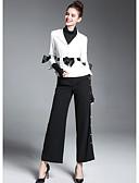 preiswerte Damen Kleider-Damen - Einfarbig Street Schick Anzüge, Hemdkragen