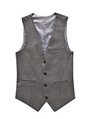 cheap Men's Blazers & Suits-Men's Plus Size Cotton Vest - Solid Colored