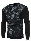 cheap Men's Shirts-Men's Long Sleeves Sweatshirt Print Round Neck
