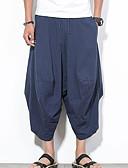 זול מכנסיים ושורטים לגברים-בגדי ריקוד גברים סגנון סיני רזה / צ'ינו מכנסיים אחיד / חוף