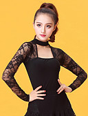 cheap Ice Skating Dresses , Pants & Jackets-Latin Dance Women's Performance Ice Silk Lace Long Sleeves Top