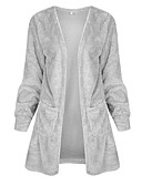 cheap Women's Sweaters-Women's Long Sleeves Long Cardigan - Solid V Neck