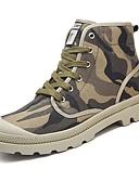 cheap Men's Pants & Shorts-Men's Cowboy / Western Boots Canvas Fall / Winter Comfort Boots Blue / Black / White / Khaki