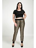 cheap Women's Pants & Leggings-Women's Plus Size Skinny / Straight Pants - Leopard