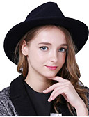 cheap Fashion Hats-Women's Headwear Cotton / Cotton Blend Floppy Hat - Solid Colored Pure Color / Winter