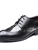 Недорогие Армейские часы-Муж. Официальная обувь Кожа Весна / Лето Туфли на шнуровке 3D Черный / Желтый / Коричневый
