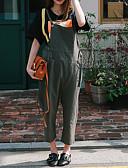 olcso nadrág-Női Magas derekú Széles lábszár Overall Nadrág Egyszínű