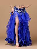 hesapli Göbek Dansı Giysileri-Göbek Dansı Alt Giyimler Kadın's Performans Polyester / Saten Fırfırlı Düşük Etekler