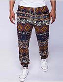 ieftine Pantaloni Bărbați si Pantaloni Scurți-Bărbați Bumbac In Larg Zvelt Pantaloni Chinos Pantaloni - Imprimeu