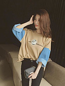 preiswerte Damen Kapuzenpullover & Sweatshirts-Damen Grundlegend Pullover Einfarbig / Herbst