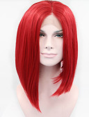cheap Men's Shirts-Synthetic Lace Front Wig Straight Synthetic Hair Red Wig Women's Short Lace Front