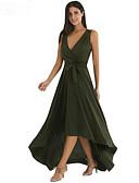 זול סרבלים ואוברולים לנשים-צווארון V מקסי אחיד - שמלה סווינג סגנון רחוב עבודה בגדי ריקוד נשים