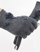 cheap Mother of the Bride Dresses-Women's Winter Gloves / Keep Warm / Windproof Wrist Length Fingertips Gloves - Solid Colored