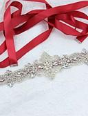 זול חגורות אופנתיות-סטן\טול / Polyester / Cotton חתונה / אירוע מיוחד / מסיבה\אירוע ערב אבנט עם ריינסטון / דמוי פנינה בגדי ריקוד נשים אבנטים