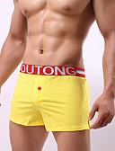 baratos Moda Íntima Exótica para Homens-Homens Boxer Curto Sólido 1 Peça Cintura Média