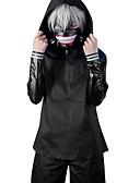 ieftine Accesorii de Baie-Costume Cosplay Inspirat de Tokyo Ghoul Ken Kaneki Anime Accesorii Cosplay Geacă / Vârf / Pantaloni PU piele Bărbați / Pentru femei nou / fierbinte Costume de Halloween