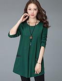 ieftine Bluze & Camisole Femei-Pentru femei Mărime Plus Size Tricou Ieșire Bumbac De Bază - Mată / Larg