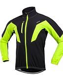 olcso Rozsdamentes acél-Arsuxeo Férfi Kerékpáros kabát Bike Téli kabát Szélbiztos Piros / Zöld / Kék Kerékpáros ruházat
