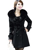 cheap Vintage Dresses-Women's Street chic Coat - Solid Colored Peter Pan Collar