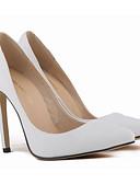 저렴한 여성 드레스-여성용 구두 가죽 / PU 봄 / 가을 베이직 펌프스 힐 스틸레토 굽 용 레드 / 그린 / 블루