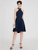 preiswerte Cocktailkleider-A-Linie Stehkragen Kurz / Mini Jersey Cocktailparty / Abiball Kleid mit Schärpe / Band / Plissee durch TS Couture®