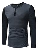 cheap Men's Shirts-Men's Active Cotton Shirt - Color Block