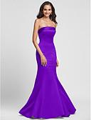 tanie Print Dresses-Próbka produktu Syrena Bez ramiączek Sięgająca podłoża Satyna Sukienka dla druhny z Bandażowe przez LAN TING BRIDE®