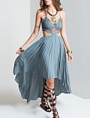 preiswerte Damen Kleider-Damen Ausgehen Boho Hülle Kleid - Spitze, Einfarbig Asymmetrisch Gurt