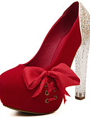 cheap Women's Dresses-Women's Shoes Sparkling Glitter / Leatherette Spring / Fall Novelty Heels Peep Toe Sparkling Glitter / Ribbon Tie Black / Red / Pink / Wedding / Party & Evening / Party & Evening