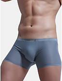 cheap Men's Underwear & Socks-Men's Boxer Briefs Solid Colored 1 Piece Mid Waist