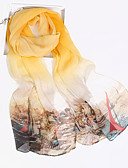 cheap Fashion Scarves-Women's Silk / Chiffon Rectangle - Graphic Print