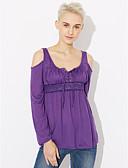 baratos Vestidos Femininos-Mulheres Tamanhos Grandes Camiseta - Para Noite Moda de Rua Em Cruz, Sólido / Primavera / Outono