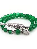 ieftine Romantic Lace-Pentru femei Jad Bratari Strand Bratari Wrap - Piatră Preţioasă Animal Έθνικ Brățări Verde Pentru Petrecere Zilnic