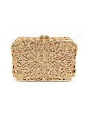 abordables Bufandas de Moda-Mujer Bolsos Metal Bolso de Noche Detalles de Cristal Dorado / Bolsos de boda