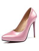 tanie Krawaty i muchy męskie-Damskie Obuwie Skóra patentowa Wiosna / Lato Comfort / Zabawne Szpilki Pointed Toe Czerwony / Różowy / Light Pink / Ślub
