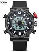 baratos Relógio Elegante-SINOBI Homens Relógio Esportivo Japanês Calendário / Impermeável / Resistente ao Choque Gel Silica Banda Casual Preta / Cronômetro / Noctilucente / Mostrador Grande / Sony S626 / Dois anos