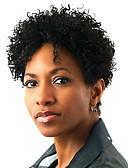זול שמלות נשים-סינתטי תחרה פאות הקדמי בגדי ריקוד נשים אפרו קינקי שחור שיער סינטטי פאה אפרו-אמריקאית שחור פאה קצר חזית תחרה Jet Black StrongBeauty