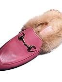 halpa Shaalit-Naisten Kengät PU Syksy Comfort Puukengät Pyöreä kärkinen varten Kausaliteetti Musta Pinkki Burgundi