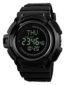 cheap Sport Watches-SKMEI Men's Sport Watch Wrist Watch Digital 50 m Water Resistant / Water Proof Calendar / date / day Compass PU Band Digital Fashion Black - Black / Stopwatch / Large Dial