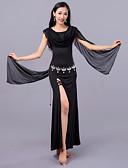 hesapli Dans Aksesuarları-Göbek Dansı Elbiseler Kadın's Eğitim Tül Włókno mleczne Katmanlı Düşük Elbise