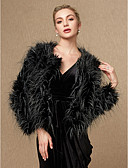 cheap Women's Blouses-Long Sleeve Faux Fur Wedding / Party / Evening Women's Wrap With Coats / Jackets