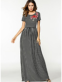 cheap Women's Dresses-Women's Loose Dress - Striped Maxi