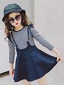 tanie Zestawy ubrań dla dziewczynek-Brzdąc Dla dziewczynek Prążki Długi rękaw Bawełna Komplet odzieży / Urocza