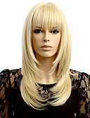 cheap Women's Dresses-Synthetic Wig Wavy Blonde Synthetic Hair Natural Hairline Blonde Wig Women's Short Capless