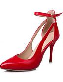 baratos Vestidos de Mulher-Mulheres Sapatos Couro Ecológico Primavera / Outono Conforto / Inovador Saltos Dedo Apontado Presilha Prata / Vermelho / Rosa claro
