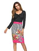preiswerte Damen Kleider-Damen Festtage Street Schick Hülle Kleid Blumen Midi V-Ausschnitt Hohe Taillenlinie