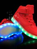 halpa Hääpuvut-Poikien Kengät PU Kevät kesä Comfort / Välkkyvät kengät Lenkkitossut LED varten Valkoinen / Musta / Punainen / Juhlat
