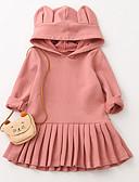 preiswerte Kleider für Mädchen-Mädchen Kleid Alltag Ausgehen Solide Baumwolle Herbst Langarm Freizeit Rosa